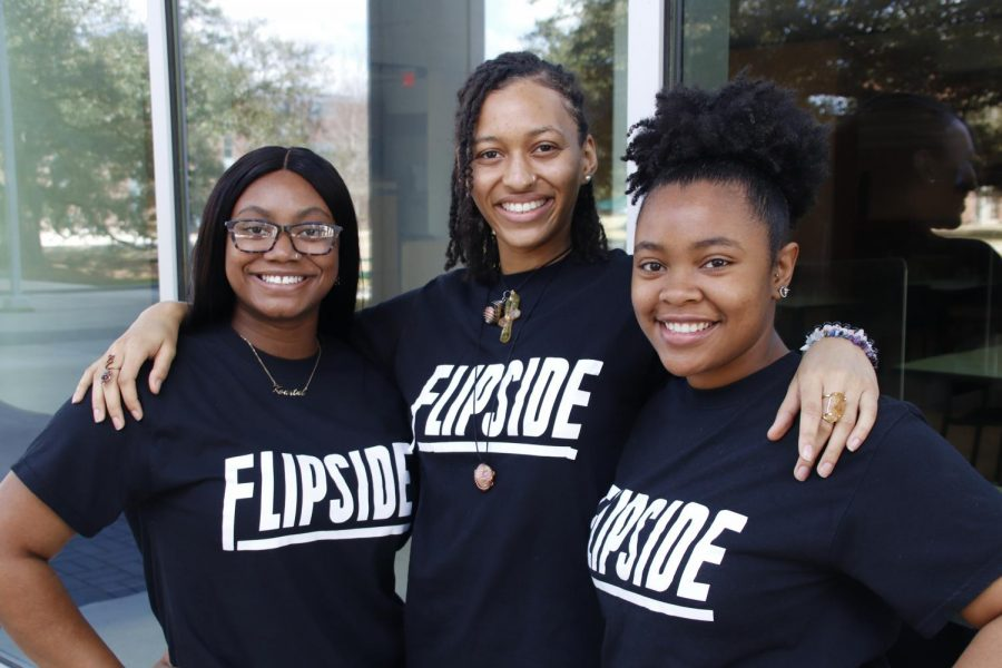Pictured left to right, Kourtni Harris, Cilicia Thornton and Riketta Griffin are proud members of the Flipside dance team. For them, Flipside has provided them with a way to alleviate stress and embrace cultural heritage.