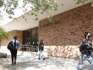 D Vickers Hall, an academic classroom and office building on campus, houses the departments within the College of Arts, Humanities and Social Sciences. Built in the early 1970s, the building is currently under the planning process for renovations to be done within the next few semesters.