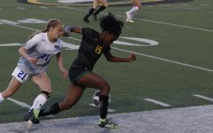Forward Ellie Williams runs the ball during Southeastern's match against Houston Baptist on April 1.