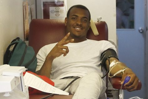 Lions support blood drive
