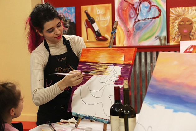 Painting with a Twist: when learning and fun collide