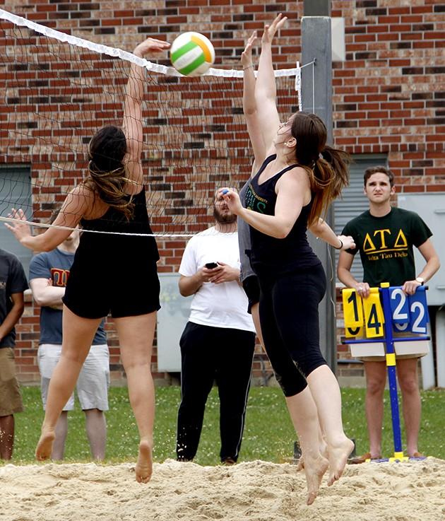 Volleyball tournament, cupcake eating open Greek Week