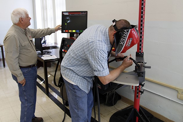 Industrial technology obtains a virtual reality welding simulator