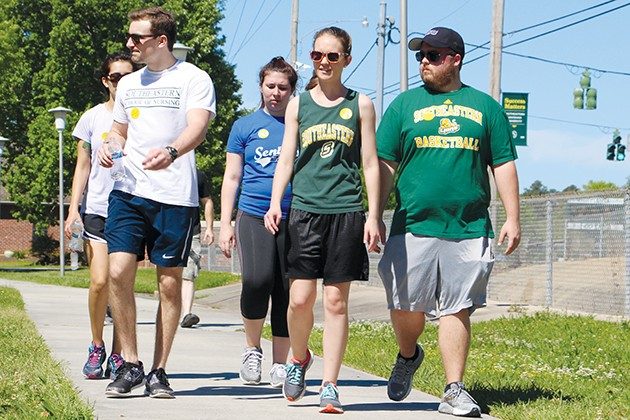 Walking to raise awareness about suicide prevention