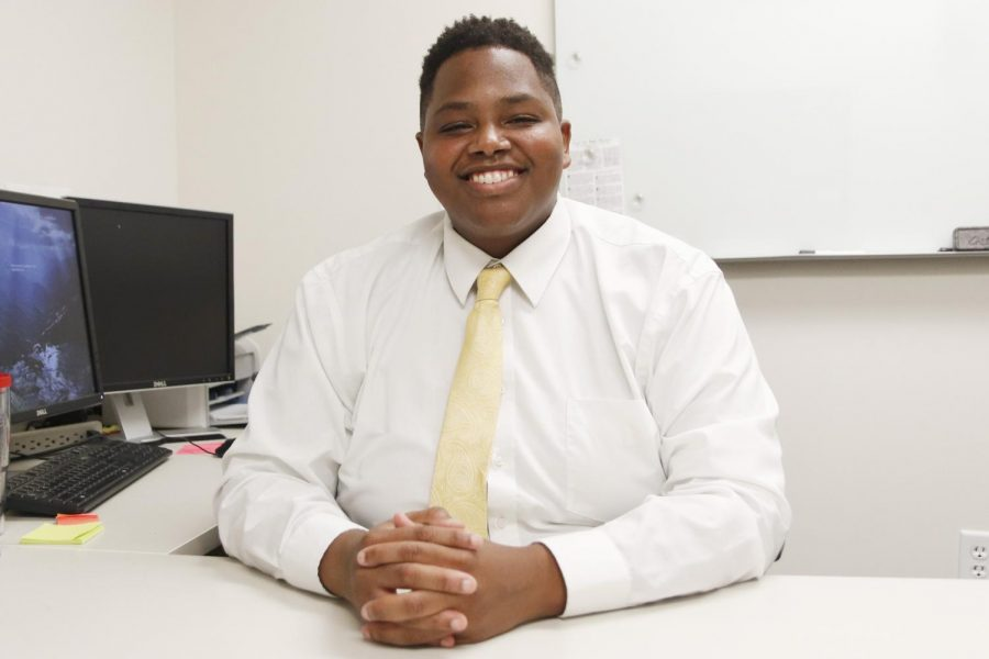 Though serving in a different position, SGA President Richard Davis Jr. is not new to the responsibilities of SGA or representing students.