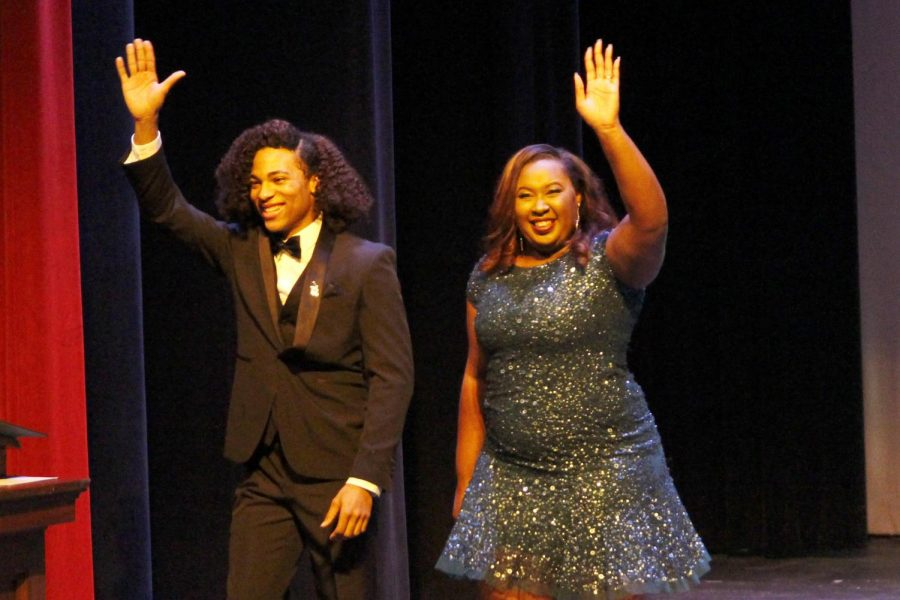 "Tyron'E Hawkins served as one of the emcees for the ""Miss Southeastern Louisiana University Pageant"" last fall."