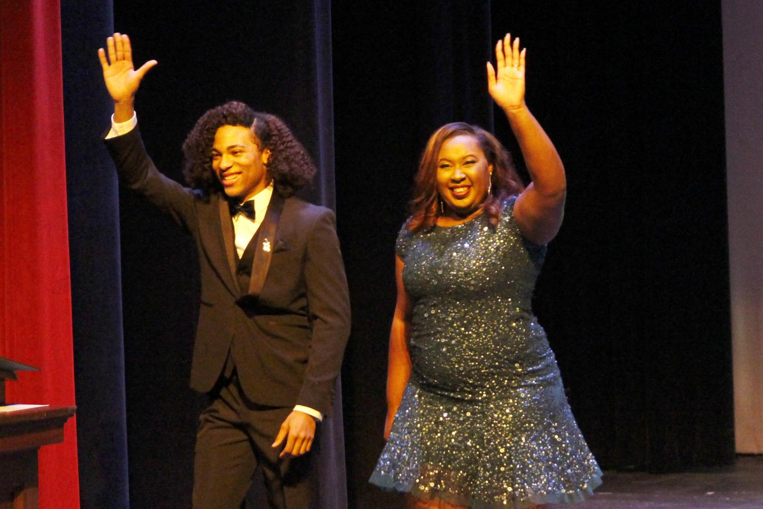 """Tyron'E Hawkins served as one of the emcees for the """"Miss Southeastern Louisiana University Pageant"""" last fall."""