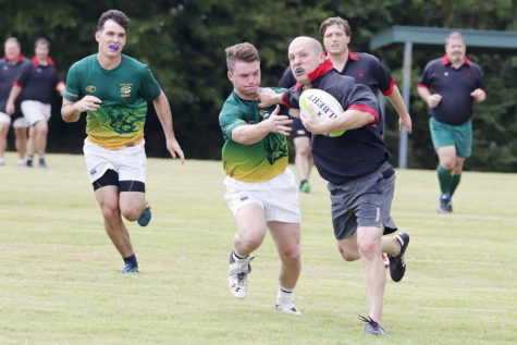 Alumni returned to the field of play for the rugby alumni game.