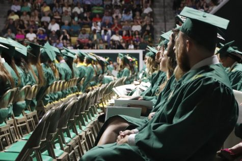 "On May 12, 2018, new graduates line up before the start of the ""Spring Commencement Ceremony."" Obtaining a college degree has increasingly coincided with ever-higher student debt loads. Since 2004, total student debt has climbed more than 540 percent to $1.4 trillion according to the New York Federal Reserve."