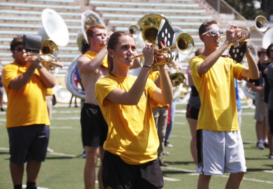 "The university invited high school students to experience the college spirit by practicing with the ""Spirit of the Southland"" Marching Band, Colorguard and the Lionettes for ""Band Day"" leading up to the Lions' Southland Conference opener and first home game of the season."