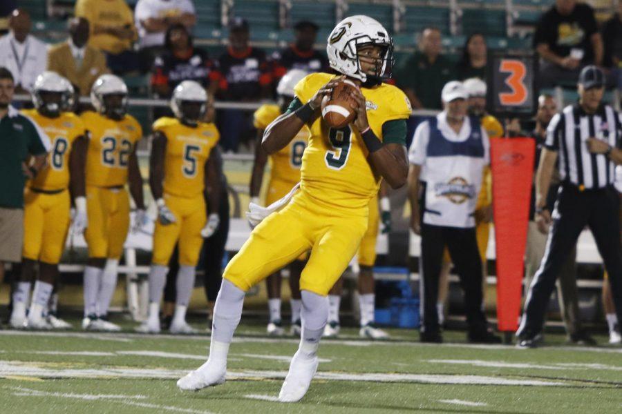 Chason Virgil, a junior quarterback, threw for 324 yards in the matchup against Abilene Christian University.