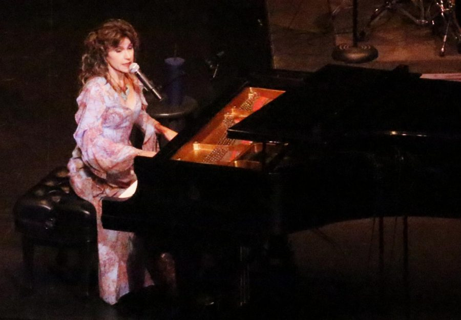 Suzanne O. Davis performs a series of songs in a tribute performance to songwriter Carole King.