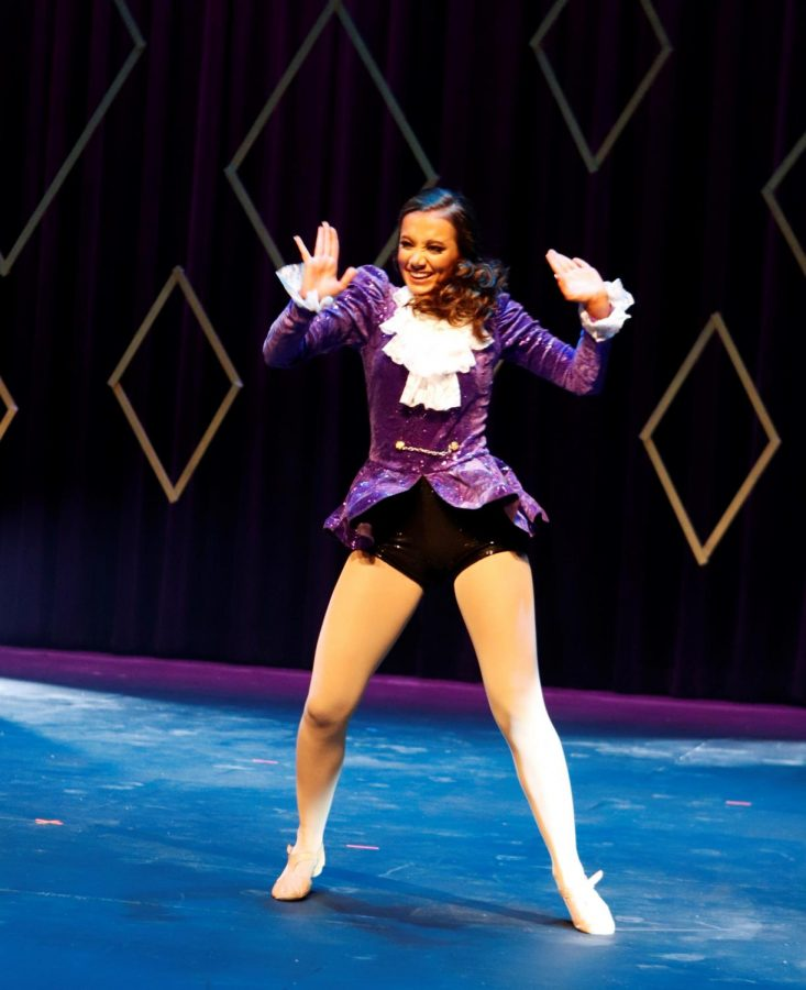 Baylee+Smith+performed+a+Prince-themed+dance+routine+during+the+talent+competition+at+the+Miss+Southeastern+2019+pageant.+