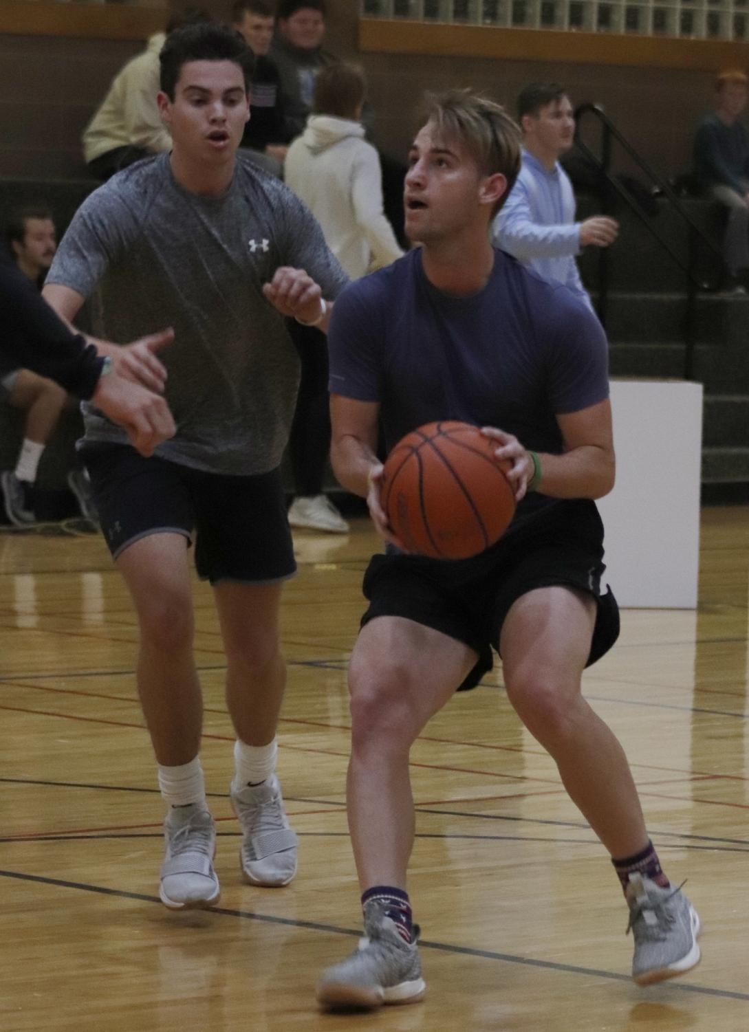 Kappa Sigma Fraternity reached first place in the intramural basketball tournament against Kappa Alpha Order.