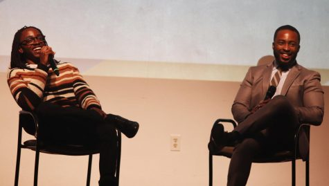 2018 Homecoming King Cedric L. Dent, a senior social work major, and Interim Dean of Students Dr. Gabe Willis answer questions about their life experiences.