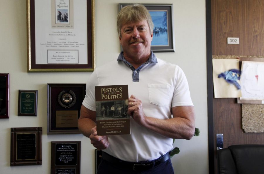 """Director of the Center for Southeast Louisiana Studies Dr. Samuel Hyde, Jr, a professor of history, was awarded the """"Michael V.R. Thomason Book Award"""" for his book on gun culture in Louisiana's Florida Parishes."""
