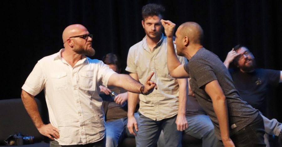 """Alumni returned to the university for an improvisational comedy performance to honor the memory of three university theatre community members, Brandon Cubas, Jacob Zeringue and Kay Files. The """"Cubas/Kay/Jacob Memorial Comedy"""" is in its fifth year of running."""