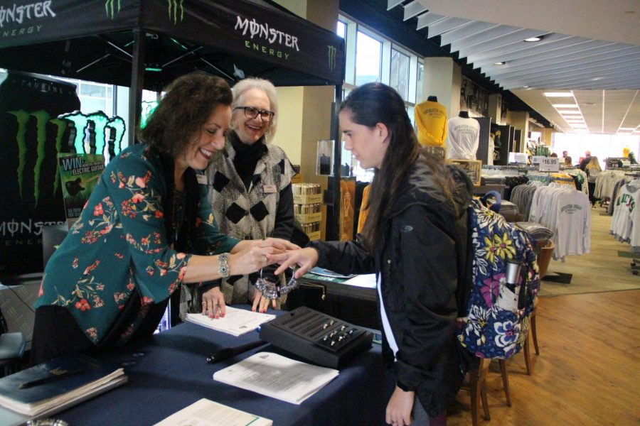 Representatives   from Balfour featured class rings to students in the bookstore on Jan. 28-29. If students were not able to visit in person, they can order their class rings through the Balfour website. Diamond Hollins/The Lion's Roar