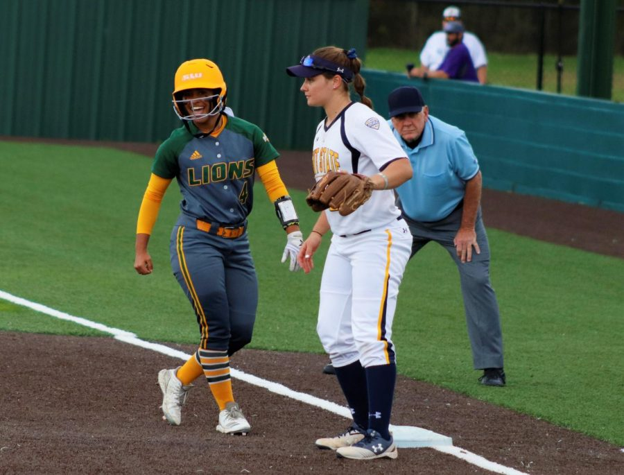 Amberlyn Alfano, a freshman utility player, earned a single during the bottom of the third inning. The Lady Lions scored four of their seven points by the end of the third inning.