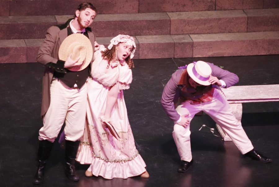 "The Opera/Music Theatre Workshop put on the production ""Ruddigore"" in the Columbia Theatre for the Performing Arts. The comical operetta required the dedication of the entire cast."