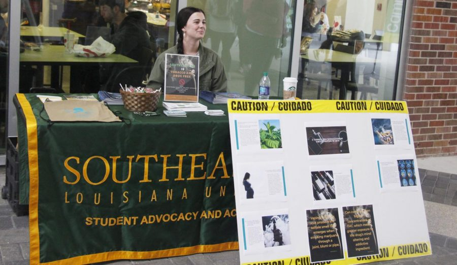 Students could stop by the  Office of Student Advocacy and Accountability's table in the Student Union Breezeway on Feb. 18 to learn about the health effects of tobacco.