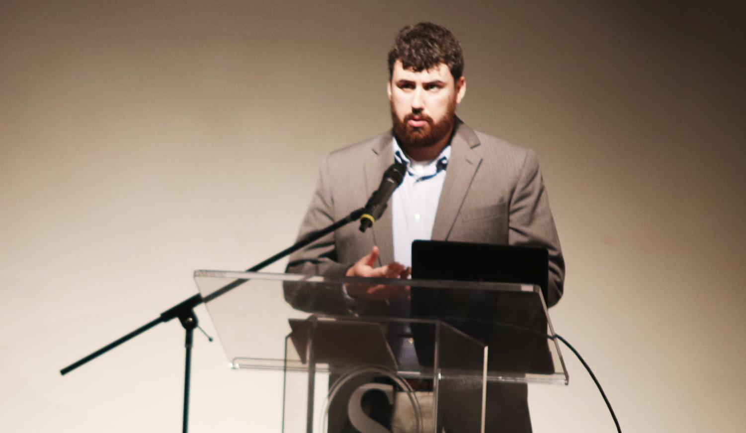 Chad Duffaut, a graduate student, addresses inclusion in sports with