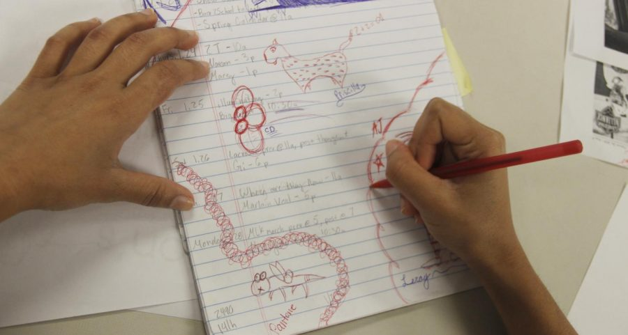 While studying or taking notes, some students doodle to increase their academic performance. The activity provides a baseline level to keep students engaged during class.