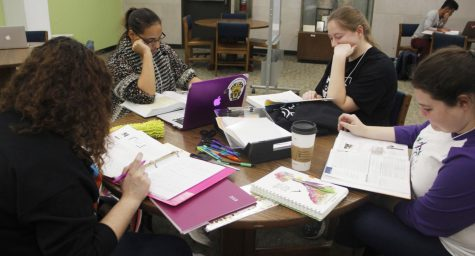 Students study in the Sims Memorial Library. To help meet students' needs, the Center for Student Excellence will provide drop-in tutoring sessions on Mondays from 6-9 p.m. at the library.