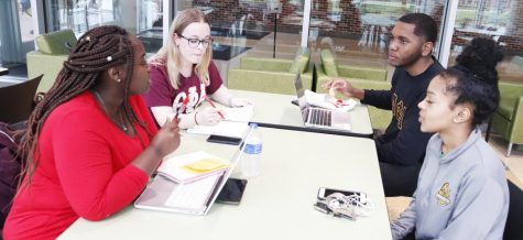 Students often meet in the War Memorial Student Union to study and do homework together. Some research predicts that in 10 years, physical universities will no longer be a part of society. However, others believe a stricter stance will be taken on technology in the classroom.