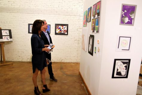 Many members of the community, including relatives of the artists, visited the Hammond Regional Arts Center during its opening reception. Artwork ranging from paintings to sculptures will be on display through Mar. 29.