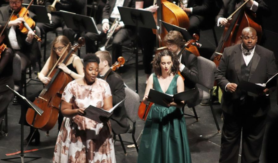 Beethoven Night included the Bella Voce, Concert Choir, University Choir and Northshore Choral Society along with soloists performing with the symphony orchestra.