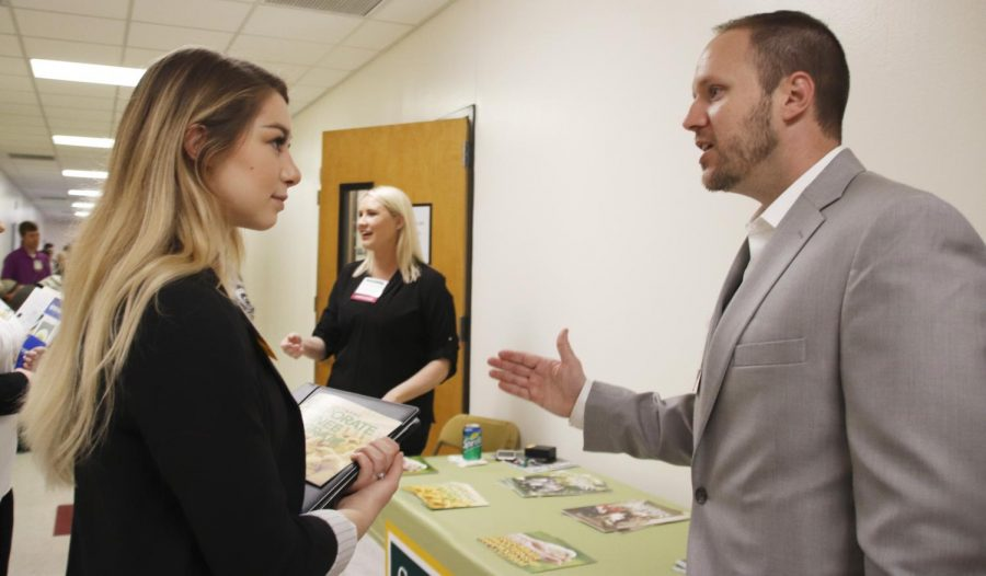 Almost 50 local and national employers visited campus for the 2019
