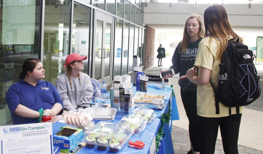 The National Alliance on Mental Illness on Campus Southeastern held a bake sale in the Student Union Breezeway to help fund the organization.