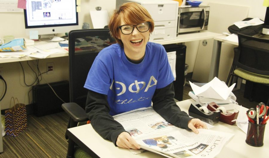 Although Annie Goodman faced problems at home in her early life, college allowed for an opportunity to escape. Now, she works for The Lion's Roar as the editor-in-chief.