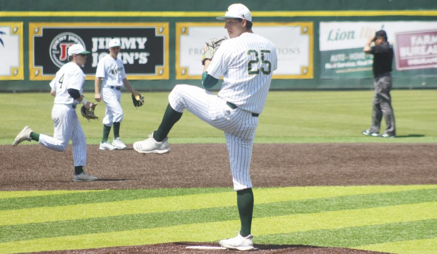 The Lions baseball team finished a series against Nicholls State University with a 2-1 victory. The first win had Corey Gaconi, a senior pitcher, playing for the whole game while the last game ended in a mercy ruling.