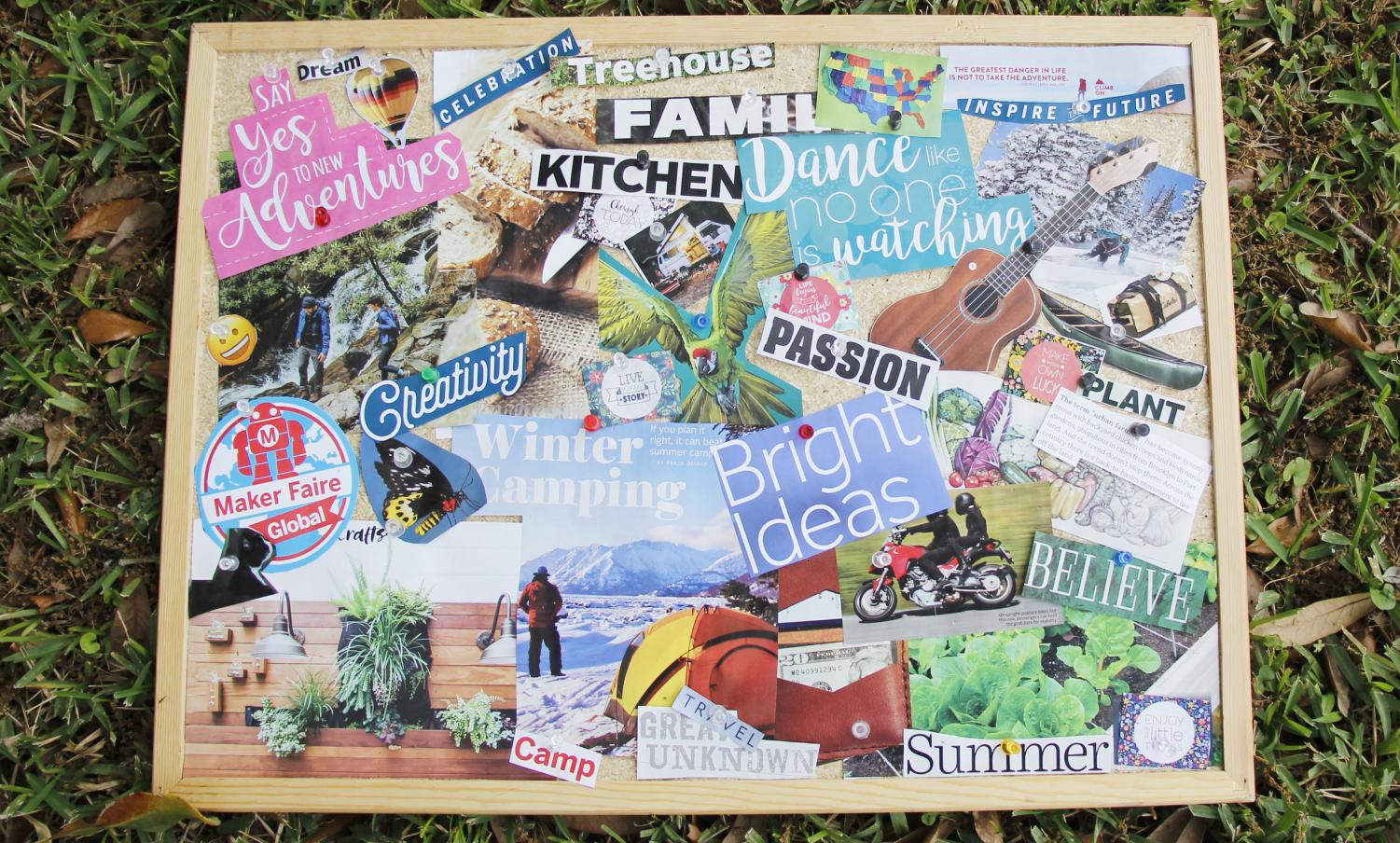 Vision boards offer a variety of options for students looking to set realistic goals. The collages can be used to plan for the future or as motivation to achieve their objectives.