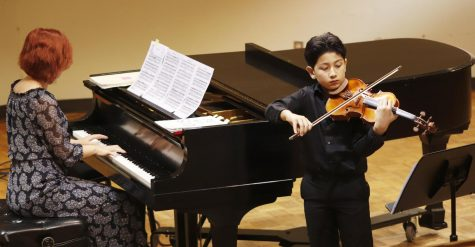 Young musicians performed in the Pottle Music Building in a competition to be in a solo act with an orchestra.