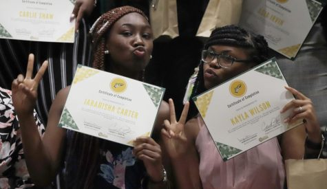 Students pose with their awards at MISA's 2019 banquet. The event aimed for inclusion and recognizing the work and dedication of students.