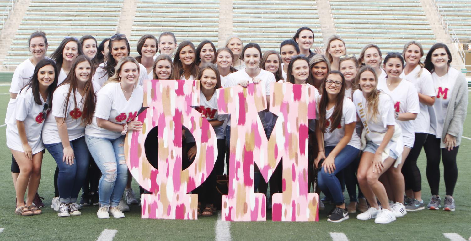 The university has five sororities from the Collegiate Panhellenic Council active on campus. The organizations participate in events throughout the year performing community service, raising money for their philanthropies and competing amongst themselves and with other sororities and fraternities. Formal recruitment is in the summer just before the start of the fall semester.