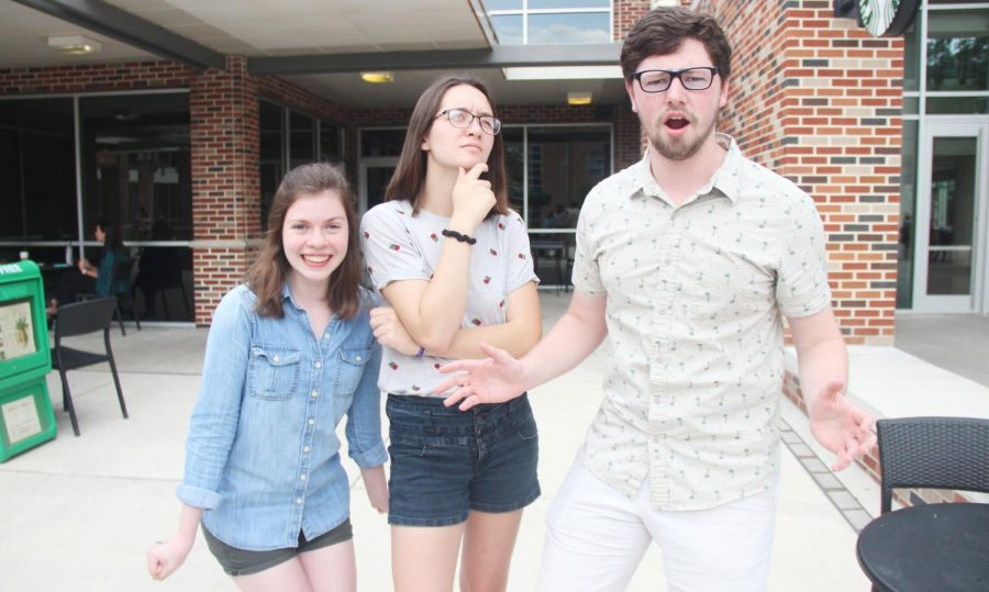 Students make different expressions outside the campus Starbucks. Nonverbal communication can help define the tone of a person's verbal message. This can include facial expressions, body posture and hand movements.