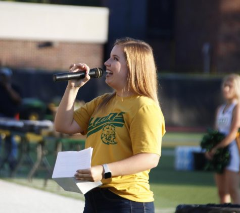 In her role as SGA President, Karley Bordelon, a senior education major, attended Strawberry Jam this year as an emcee. Bordelon hopes to use her new role as president to improve upon traditional events and work with her cabinet to provide a productive and fun environment for the student body.