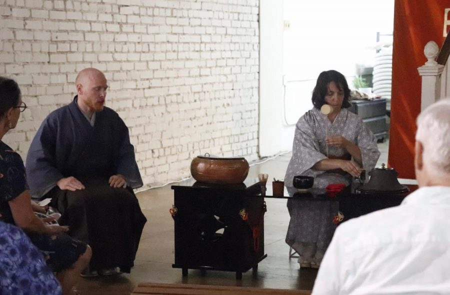 The Hammond Regional Arts Center hosted a Japanese tea party from 1-3 p.m. Demonstrators engaged the audience in the culture of their