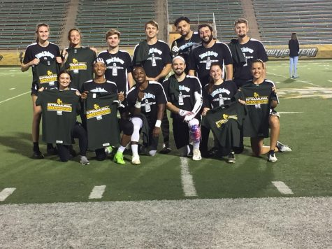 Unified and Co-Rec intramural flag football crown division champions