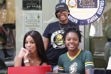 Members of the university chapter of NAACP set up a boot at the War Memorial Student Union Breezeway to spread voting awareness to students.
