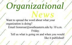Organizational News – Nov. 19, 2019 issue