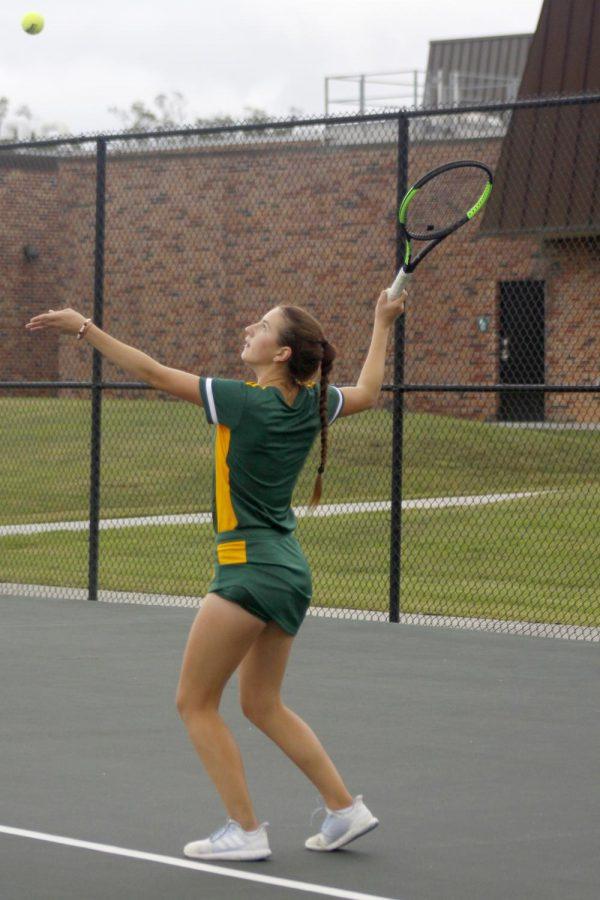 Teodora Mitrovic, a freshman tennis player.