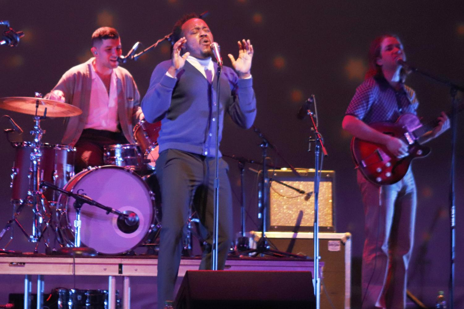 Following their international tour, Durand Jones and the Indications performed at the Columbia Theatre for the Performing Arts. The concert was sponsored in part by the Alumni Association. Maggie Tregre/The Lion's Roar