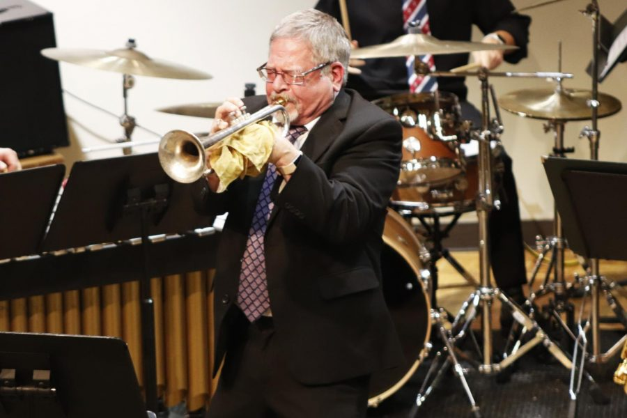 Mike+Williams%2C+a+native+of+Louisiana%2C+is+known+for+his+position+as+lead+trumpet+in+the+Count+Basie+Orchestra.+He+joined+the+University+Jazz+Ensemble+and+Jazz+Lab+Band+as+a+guest+artist+in+their+final+concert+of+the+fall+2019+semester+on+Wednesday%2C+Nov.+20.