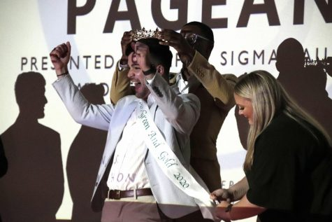 Tyler Hoskins was crowned Mr. Green and Gold 2020 on Nov. 6. Alpha Sigma Tau hosted the pageant as a chapter fundraiser.