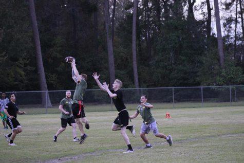 The university ROTC won the match 24-18.
